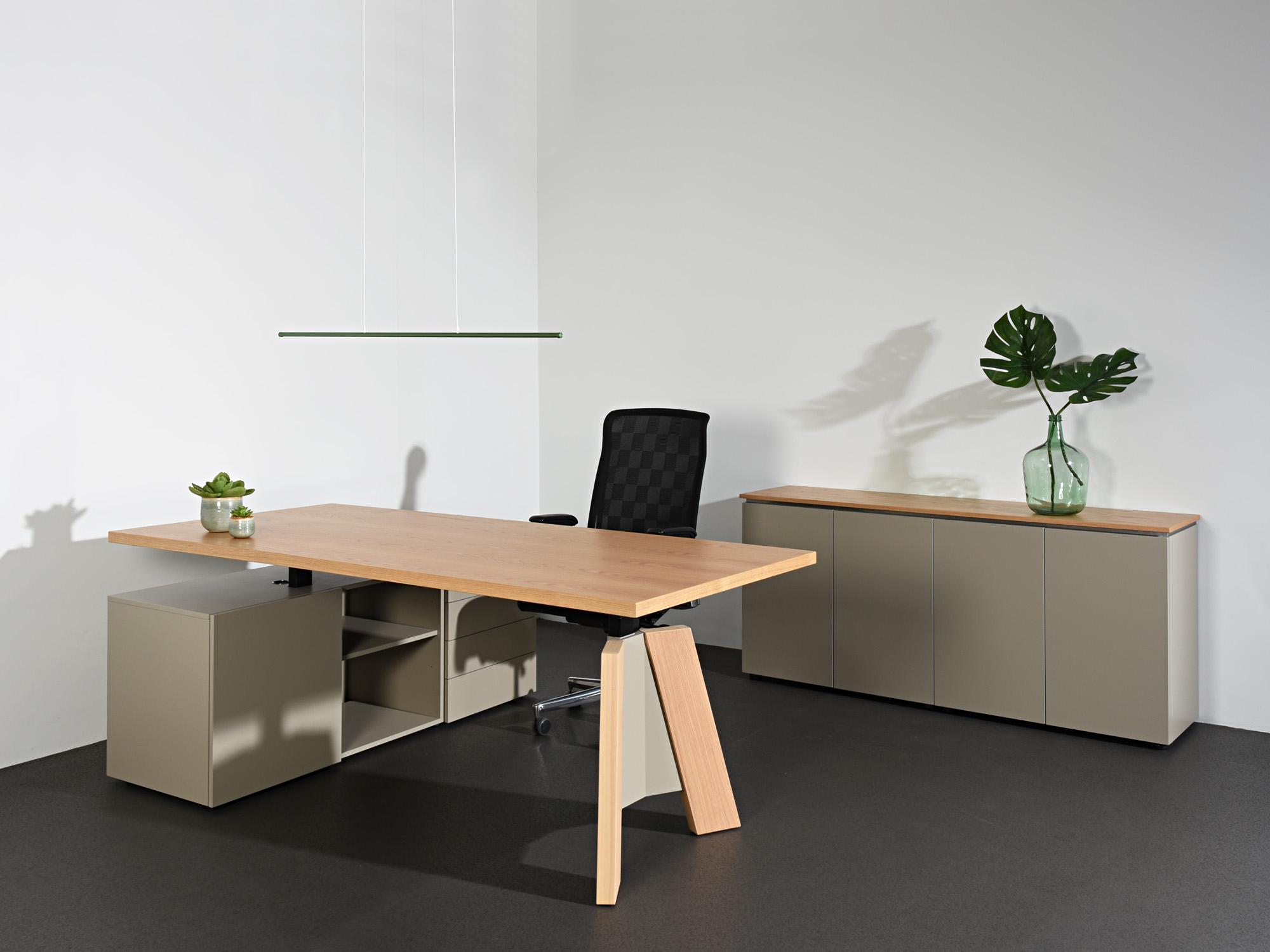 TSP-zitsta bureau en TSP-kast, ontwerp door Castelijn Team