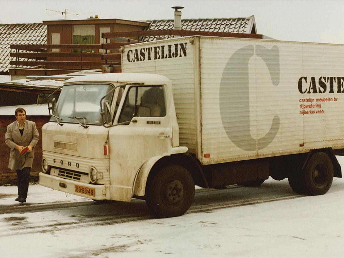 1980, Sjaak bij de vrachtauto.